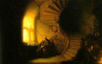 Rembrandt. Le philosophe méditant. 1633