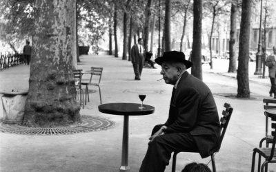 Doisneau. Jacques Prévert. Paris. 1955