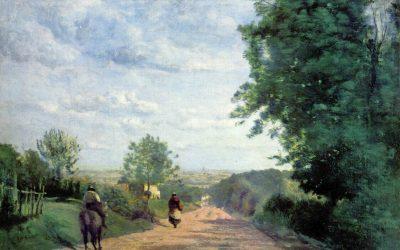 Corot. Le chemin de Sèvres. Vue de Paris. 1865