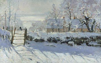 Monet. La pie. 1868