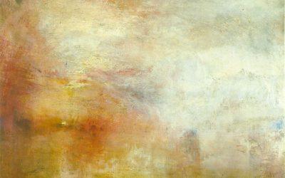 Turner. Coucher de soleil sur un lac. 1840